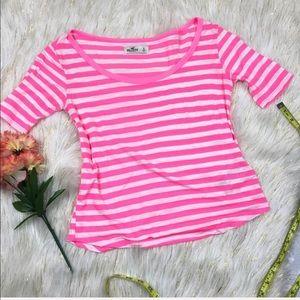 Hollister Stripe Shirt Sz S